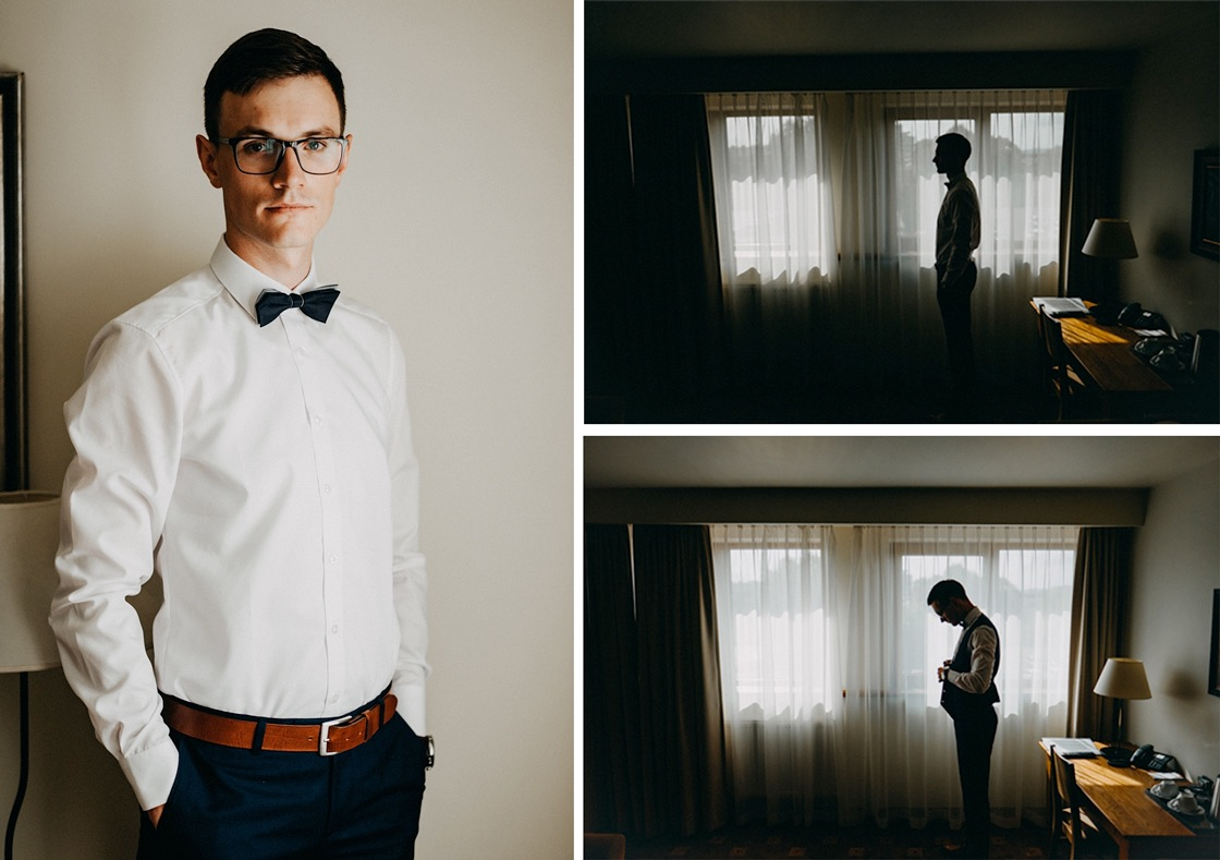 Vestuvinė fotosesija jaunojo pasiruošimas Vilnius fotografas