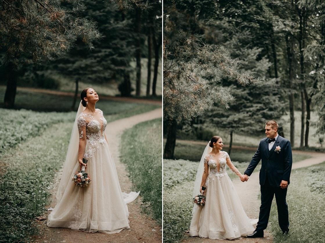 Vestuvinė fotosesija jaunieji suknelė parkas kostiumas Vilnius fotografas