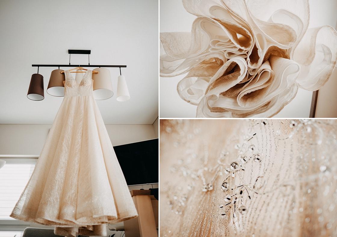 Vestuvės Kaunas fotografas suknelė nuotaka pasiruošimas rytas swarowski